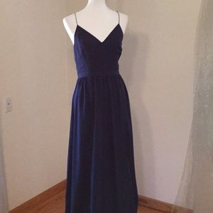 1.STATE long spaghetti strap dress,front side slit
